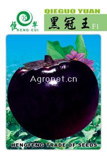 黑冠F1圆茄——茄子种子